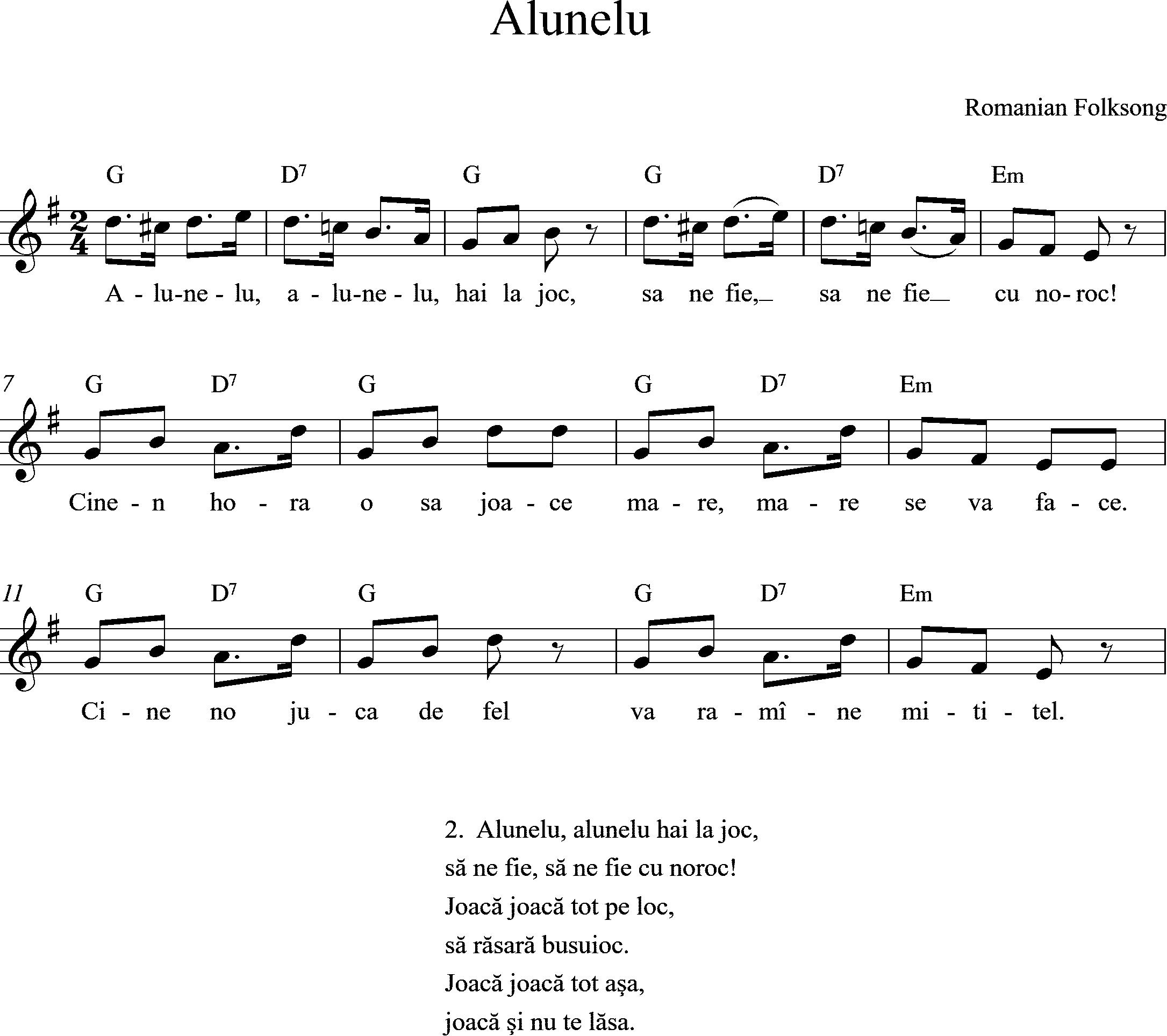 sheetmusic Alunelu