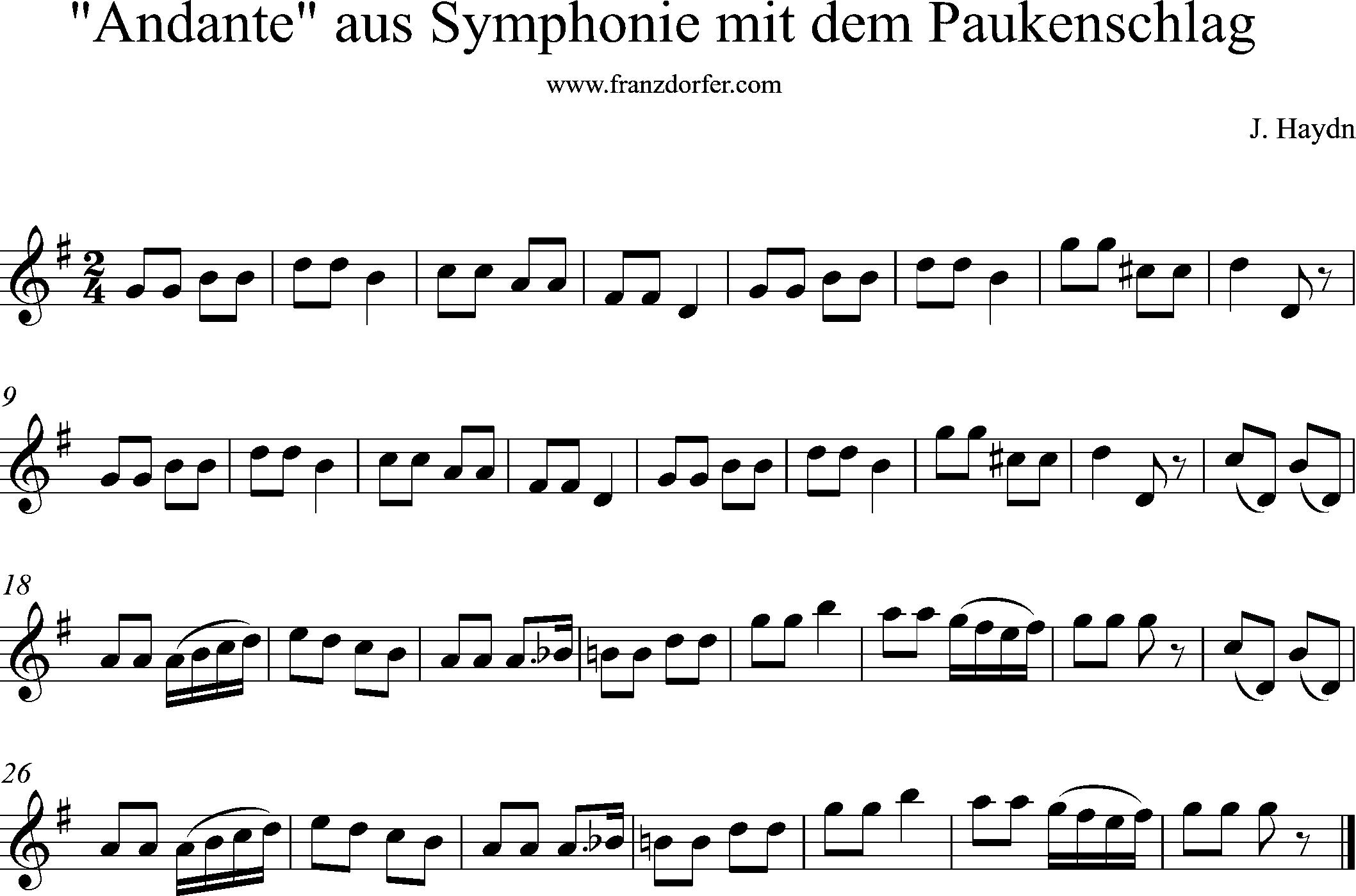 Sinfonie Mit Dem Paukenschlag