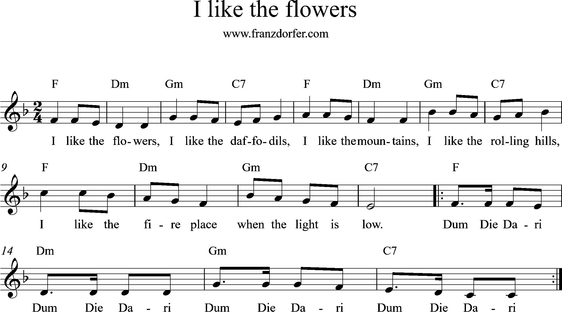 i like the flowers f-major