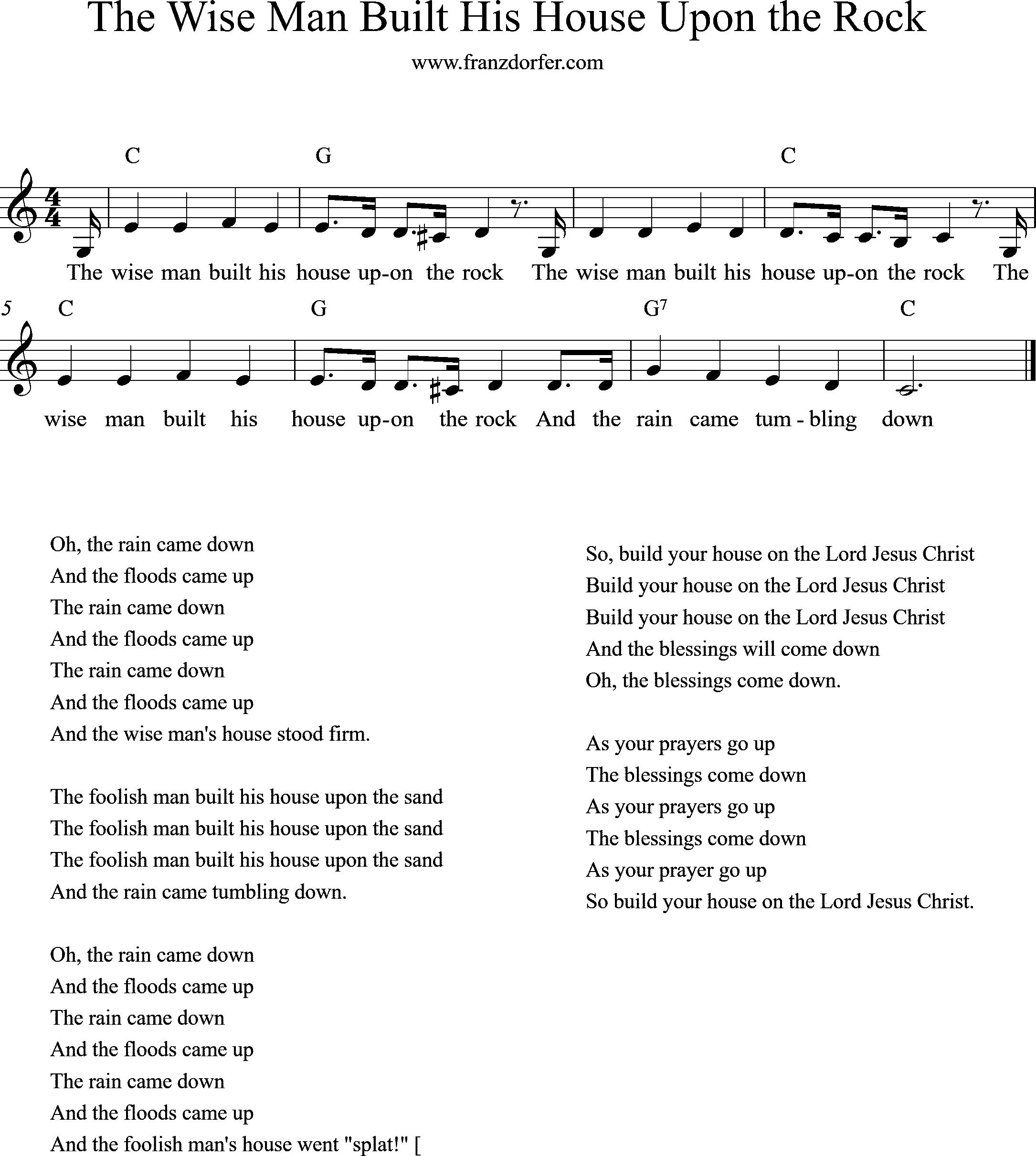 sheetmusic, The wise man
