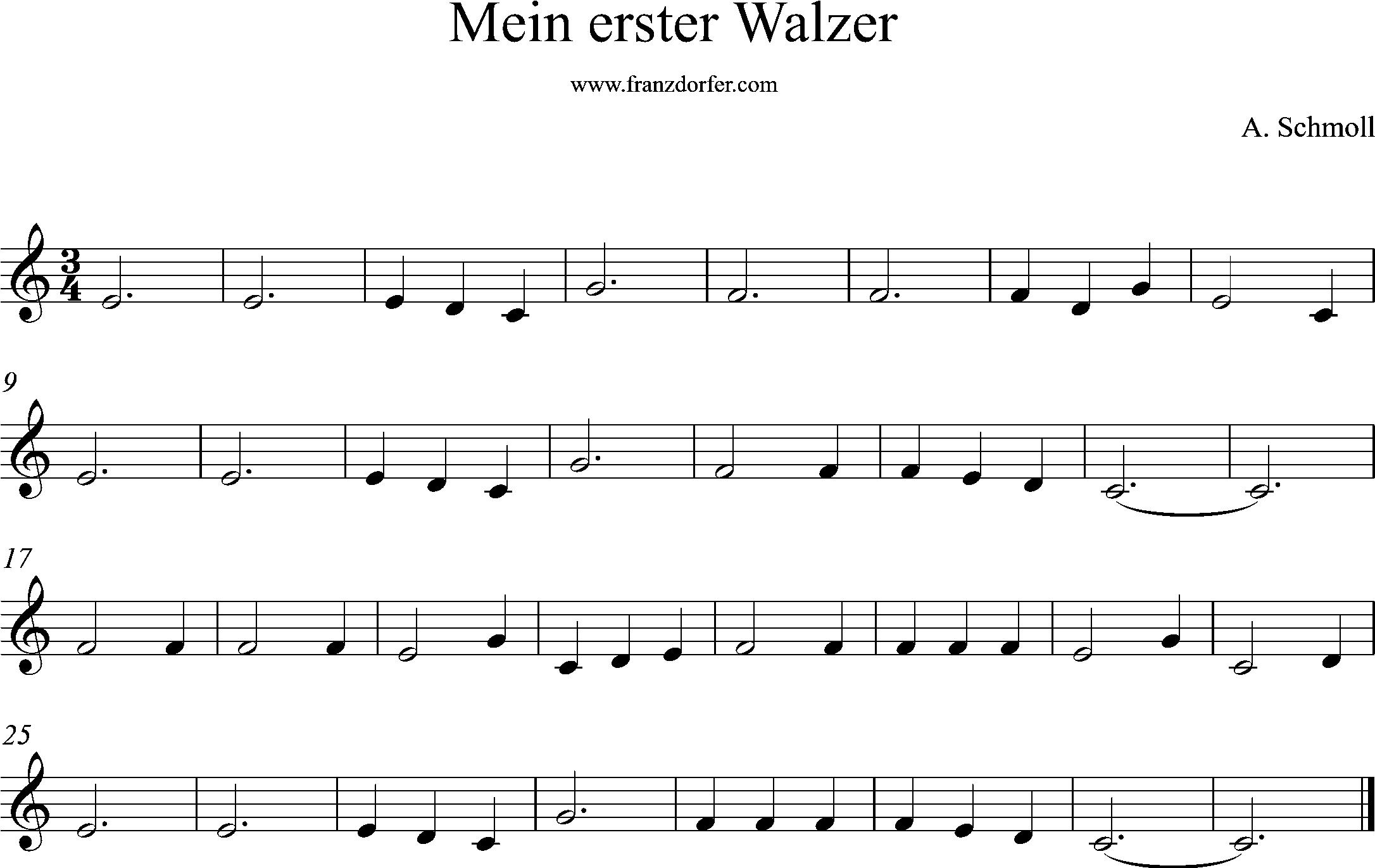 klarinettennotten, mein erster walzer