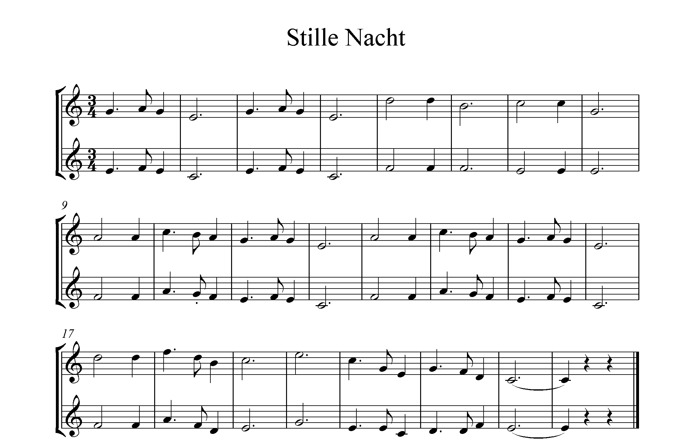 Noten Stille Nacht