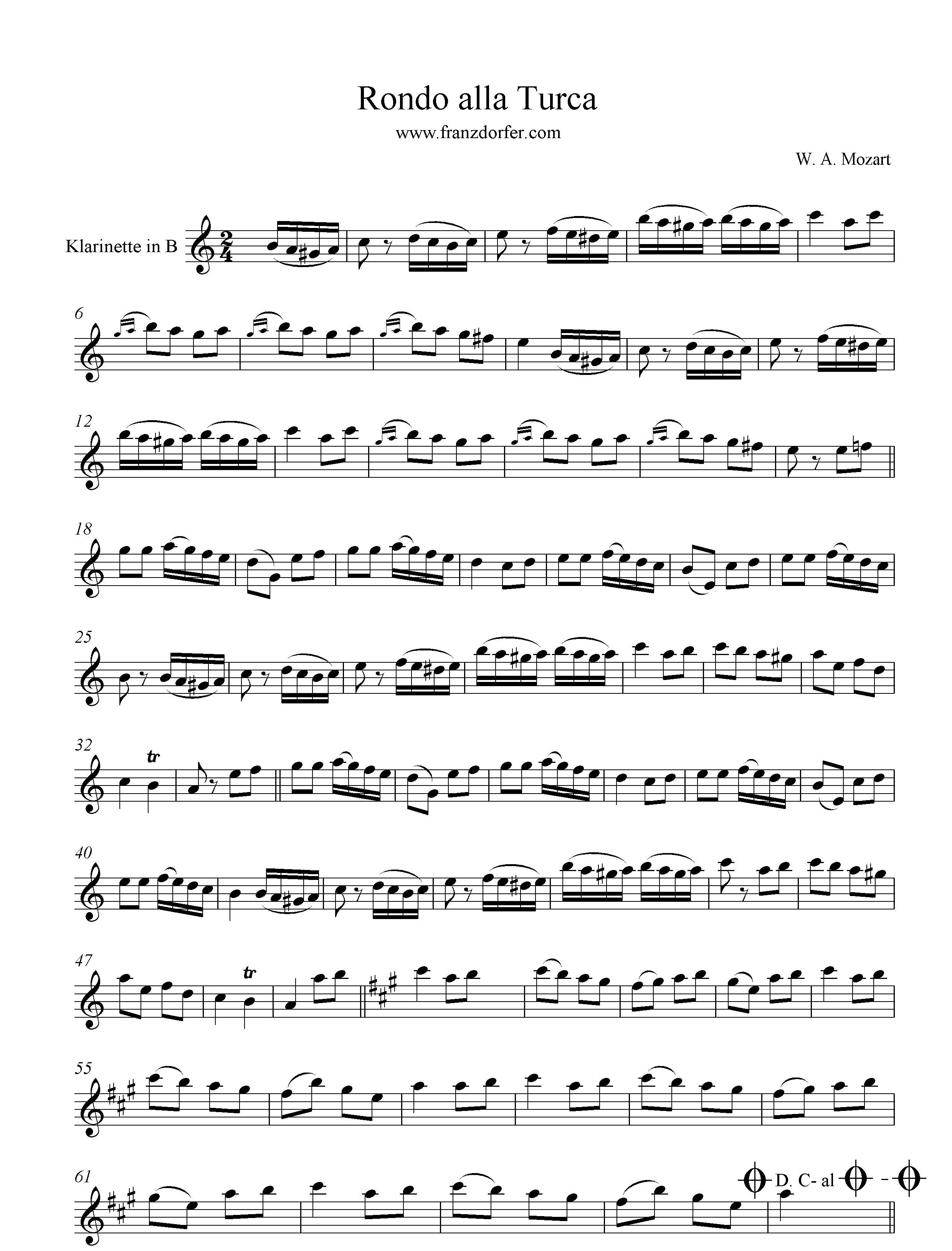Alla Turca Mozart rondo alla turca