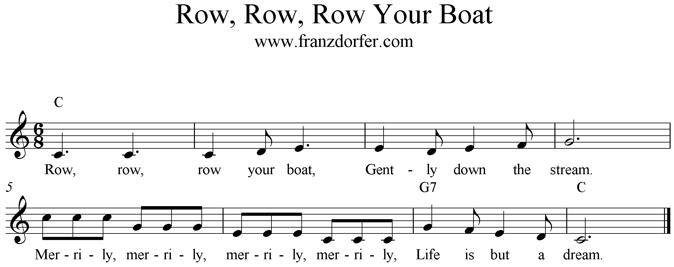 Row Your Boat, C-Major
