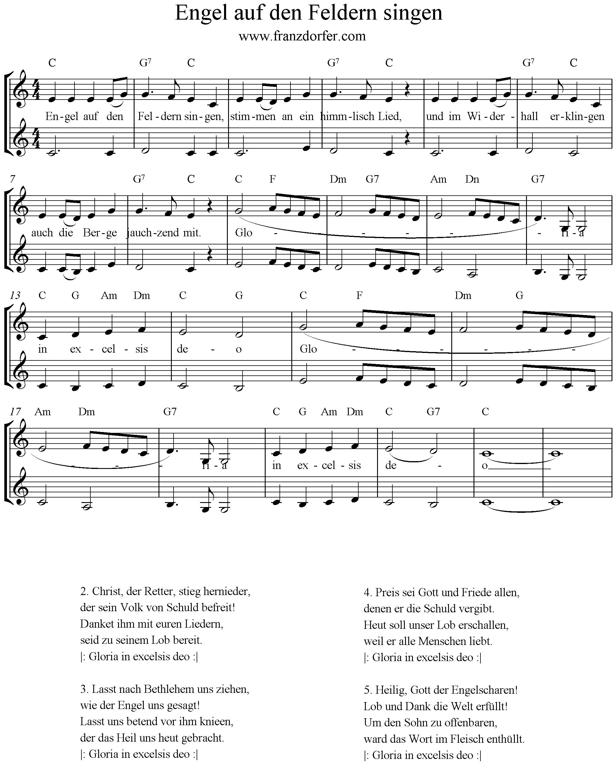 Engel auf den Feldern singen