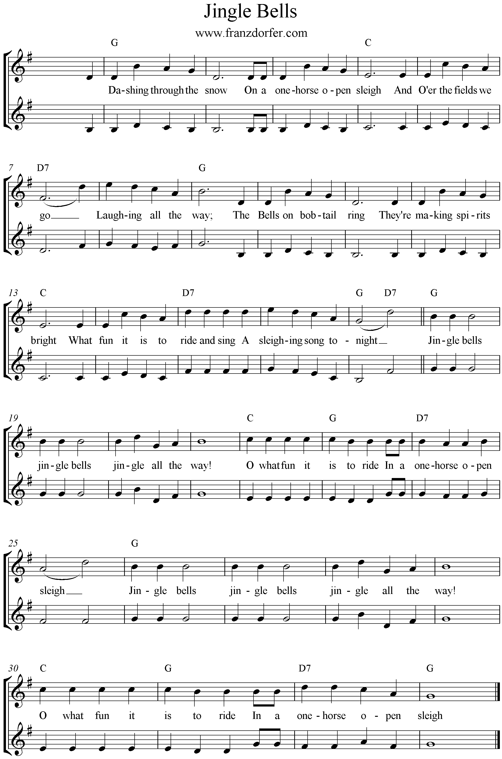 Jingle Bells 2stimmig