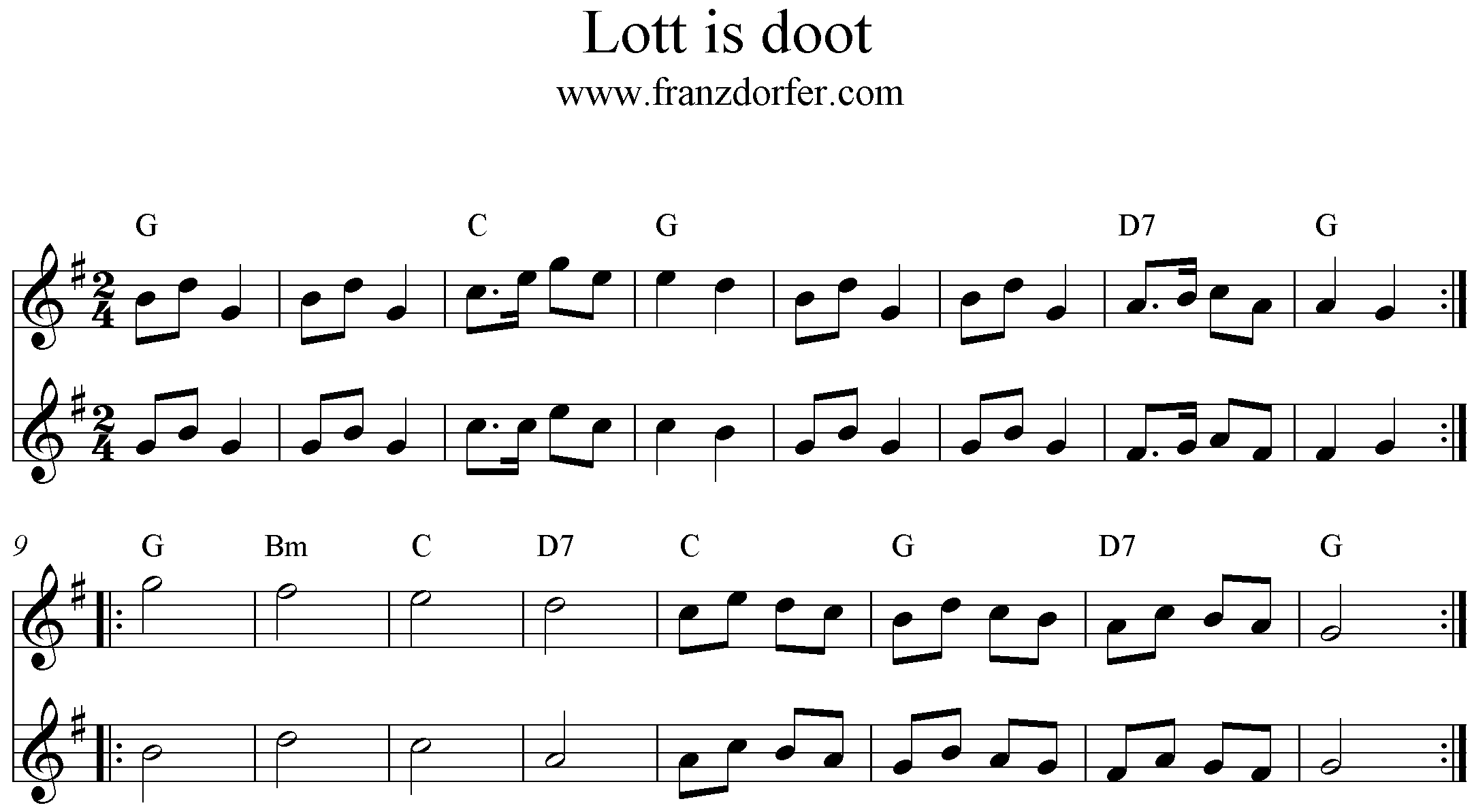 Noten Lott is doot