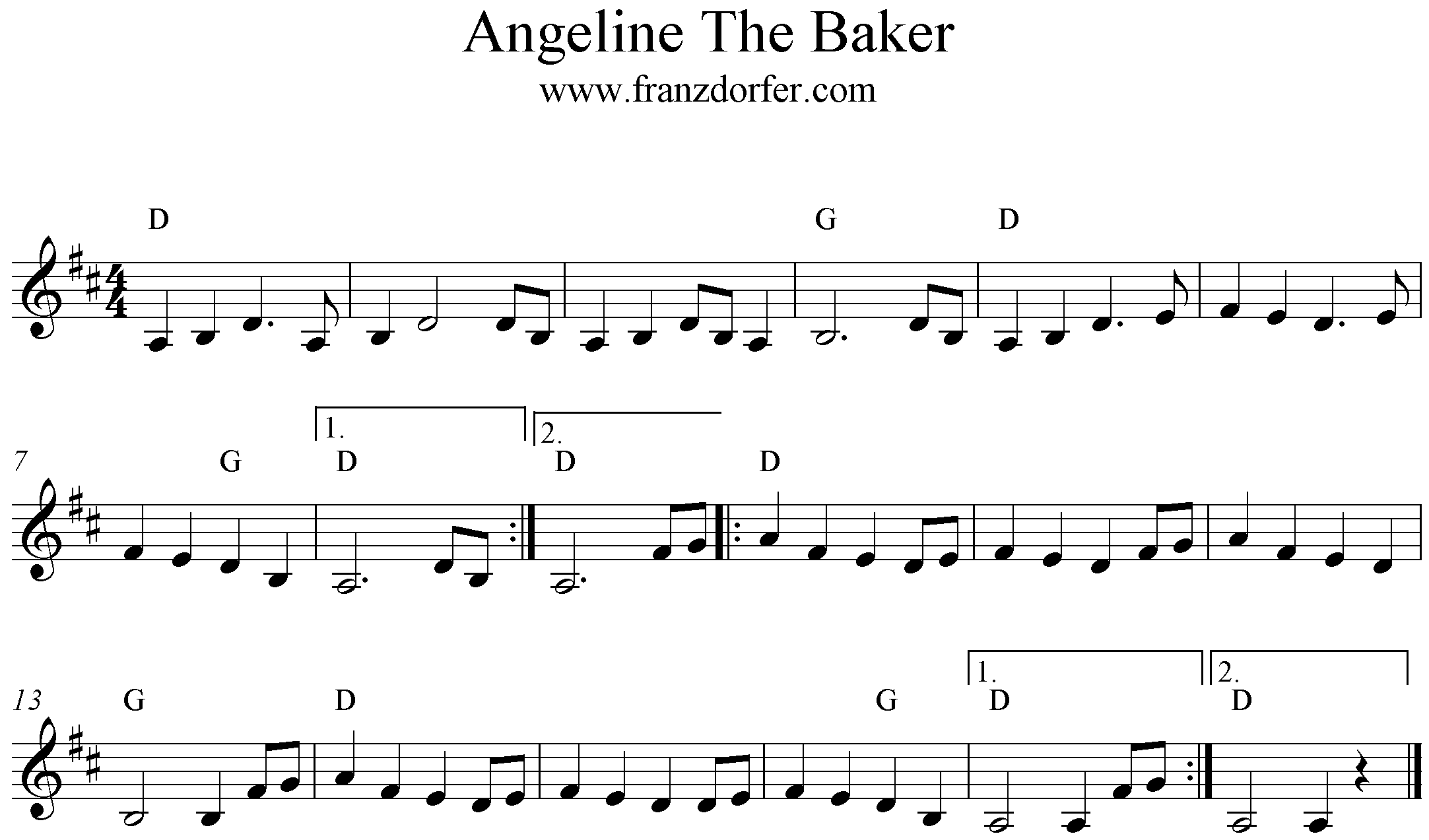 D-Major, Angeline The Baker