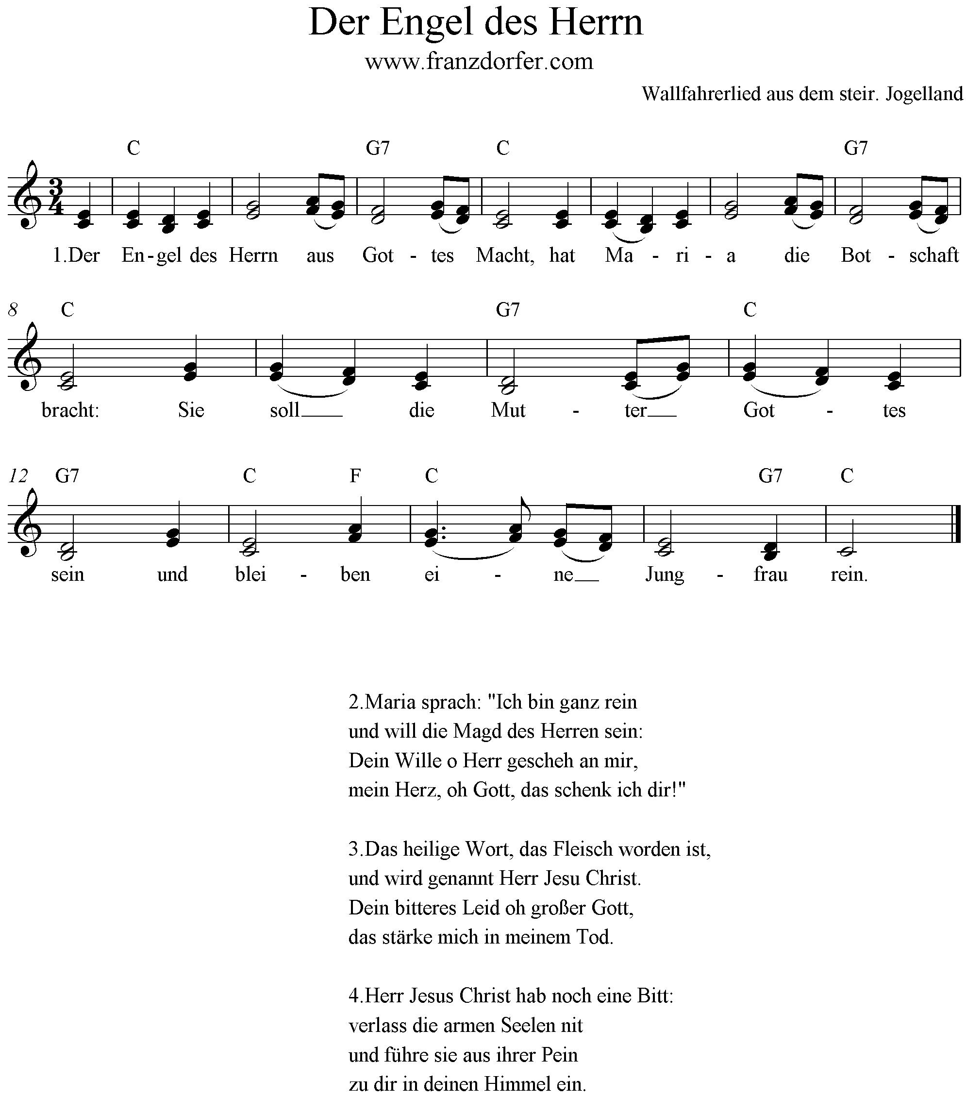 Alpenländische Weihnachtslieder Noten.Der Engel Des Herrn