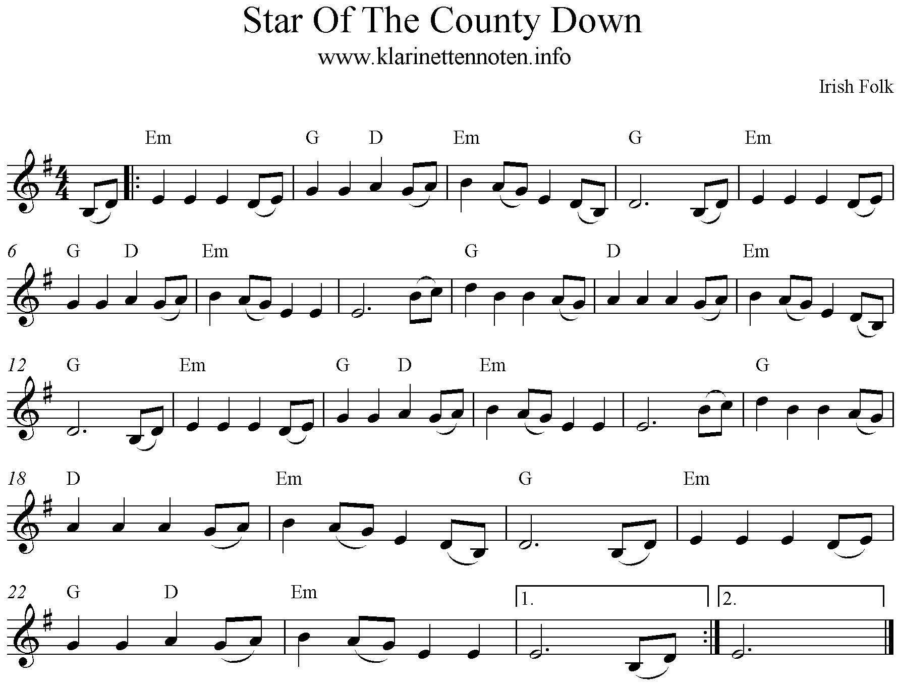 Noten Star of the County Down