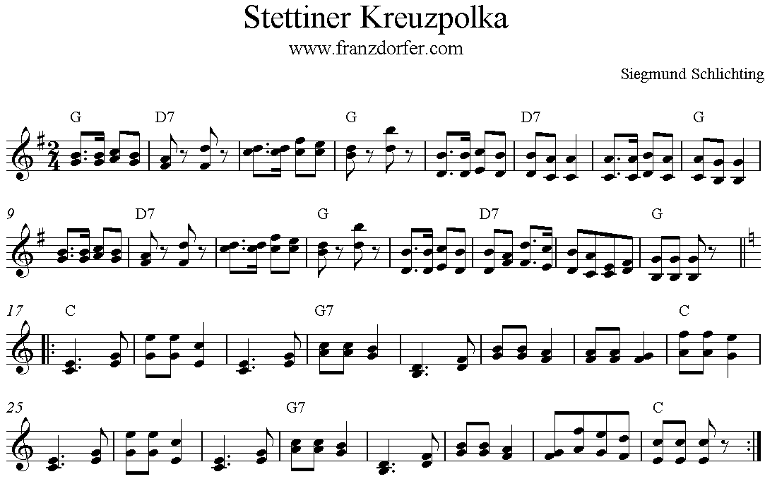 Noten Stettiner Kreuzpolka
