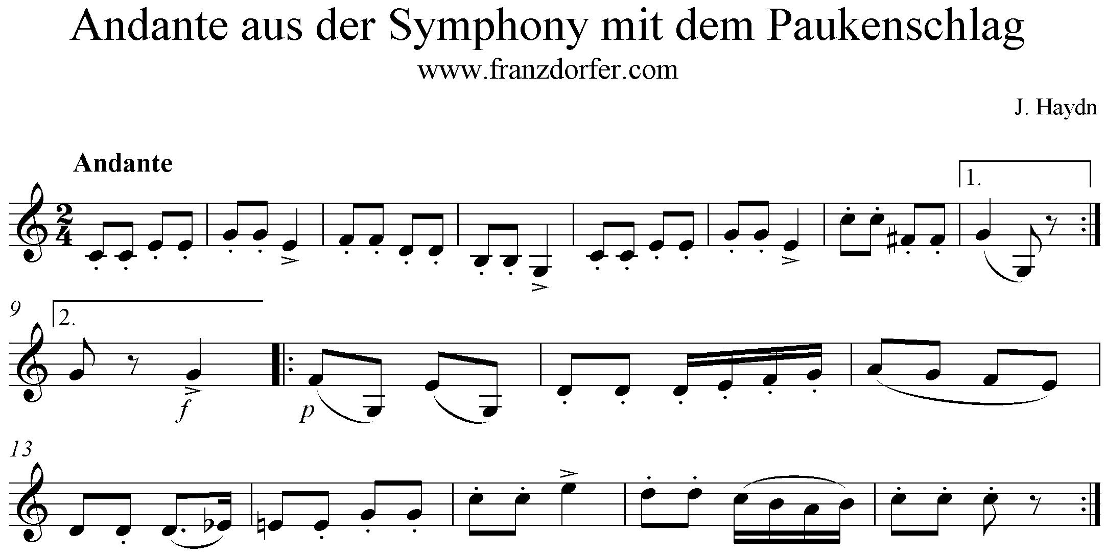 Symphonie Mit Dem Paukenschlag