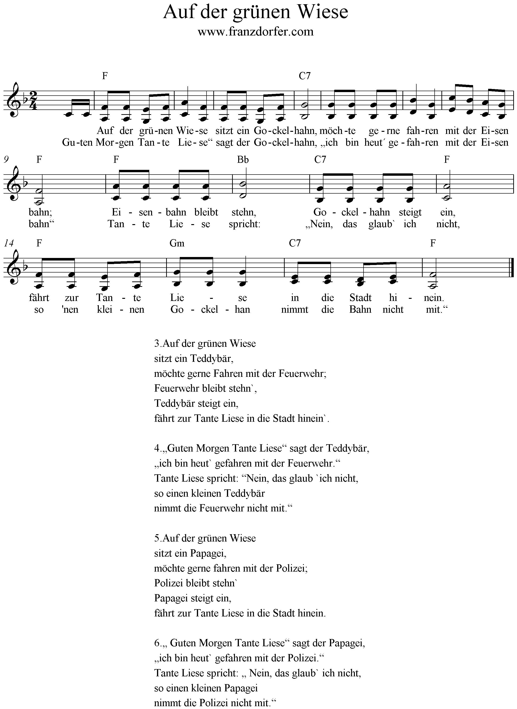 Gockelhahn Lied