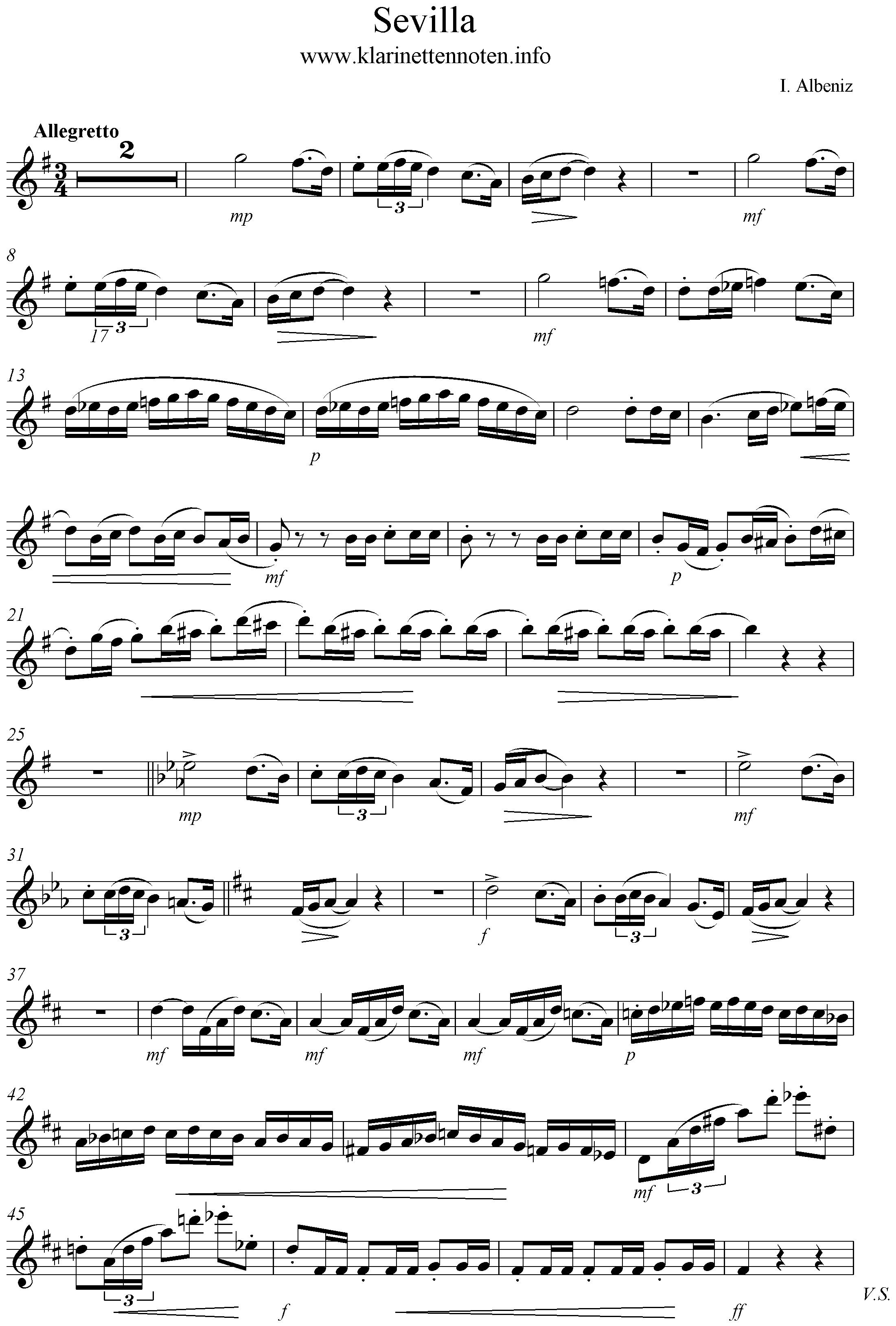 sevilla Solopart Clarinet