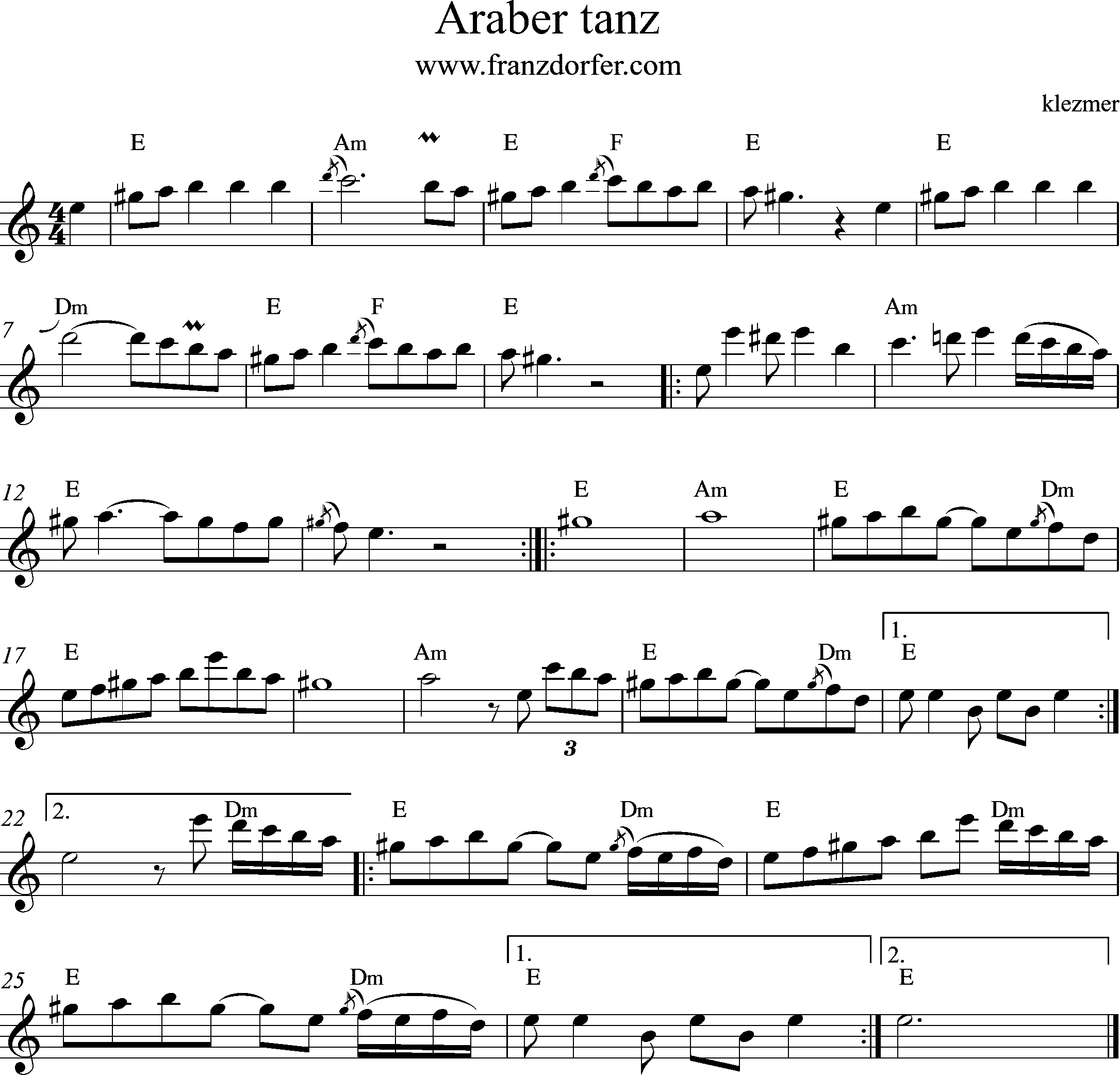 sheetmusic Araber tanz -2