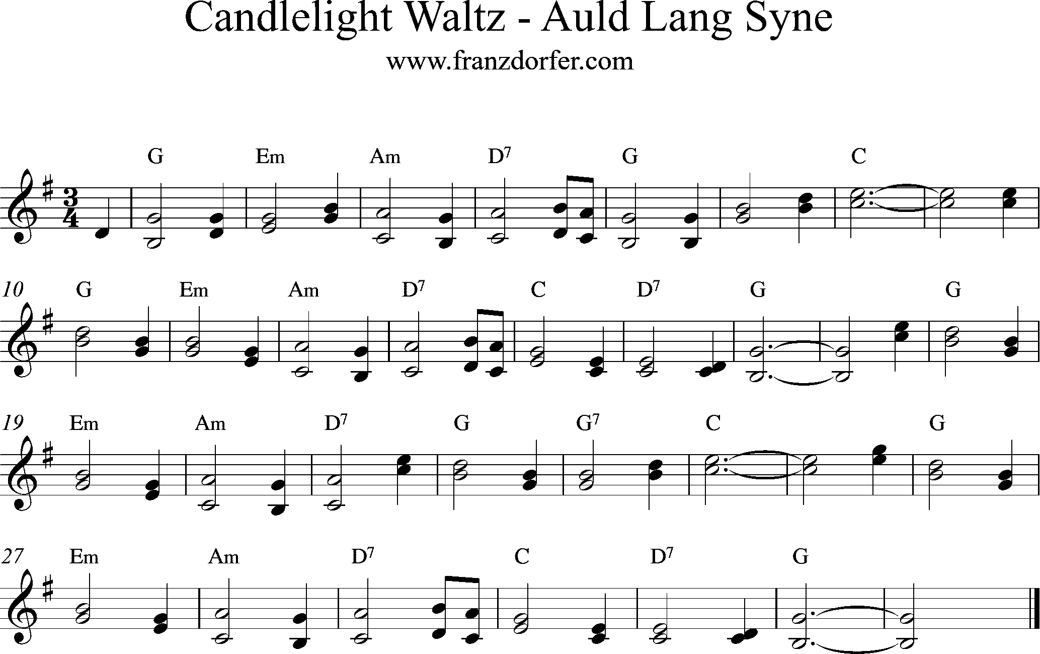 Noten - Candlelight Waltz