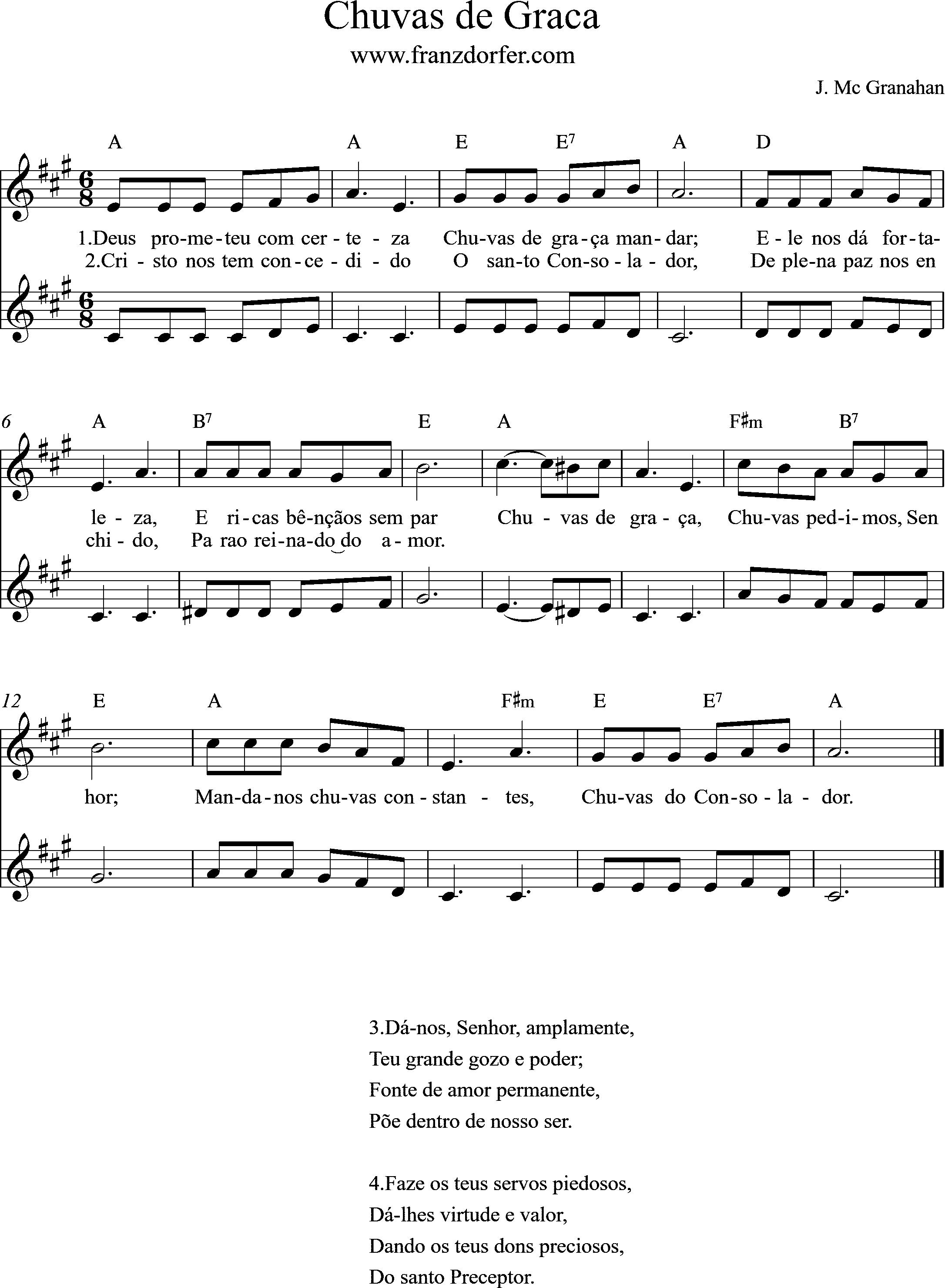 Chu de Graca- Duo- A-Major