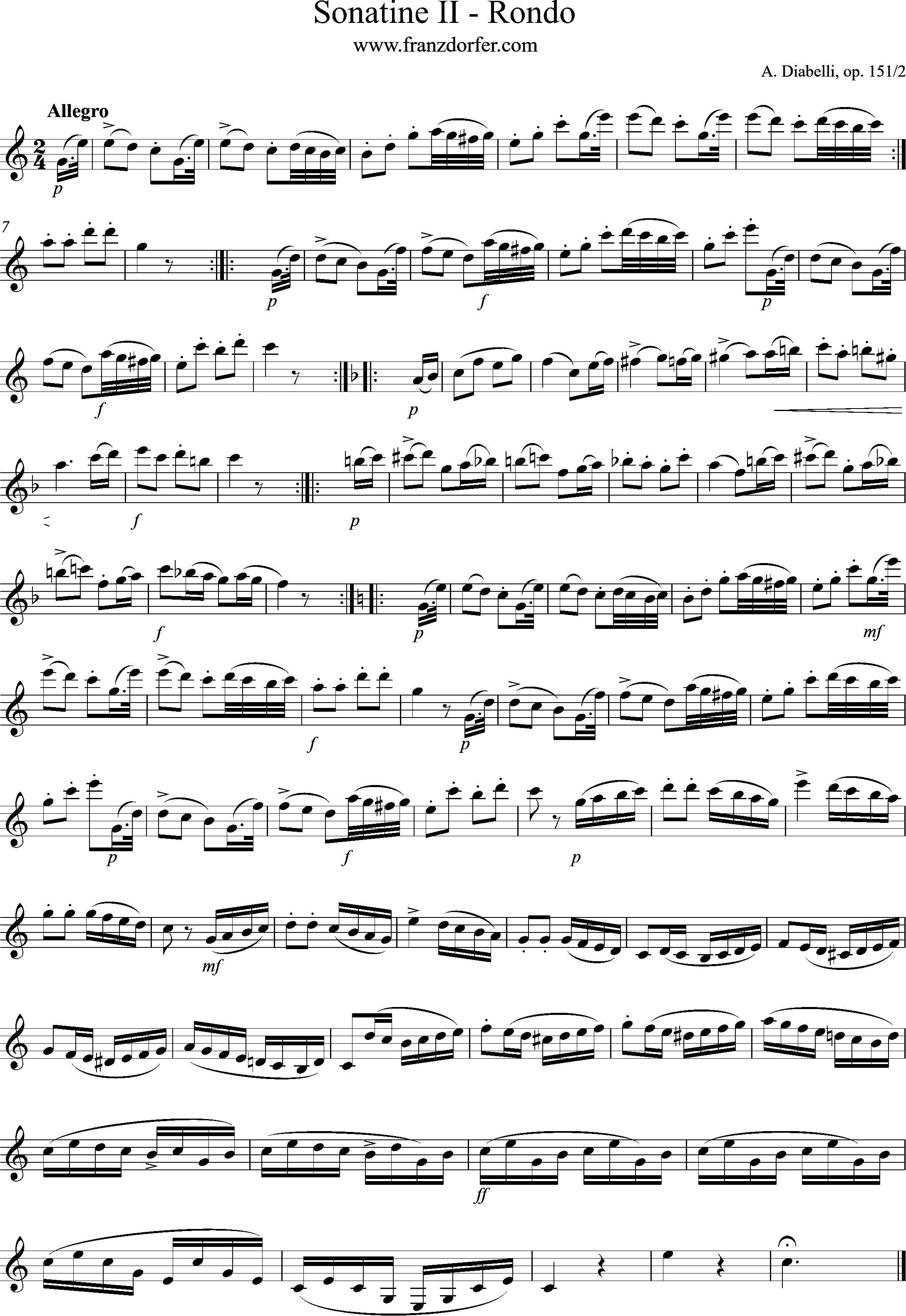 Clarinet Sheetmusic, Diabelli
