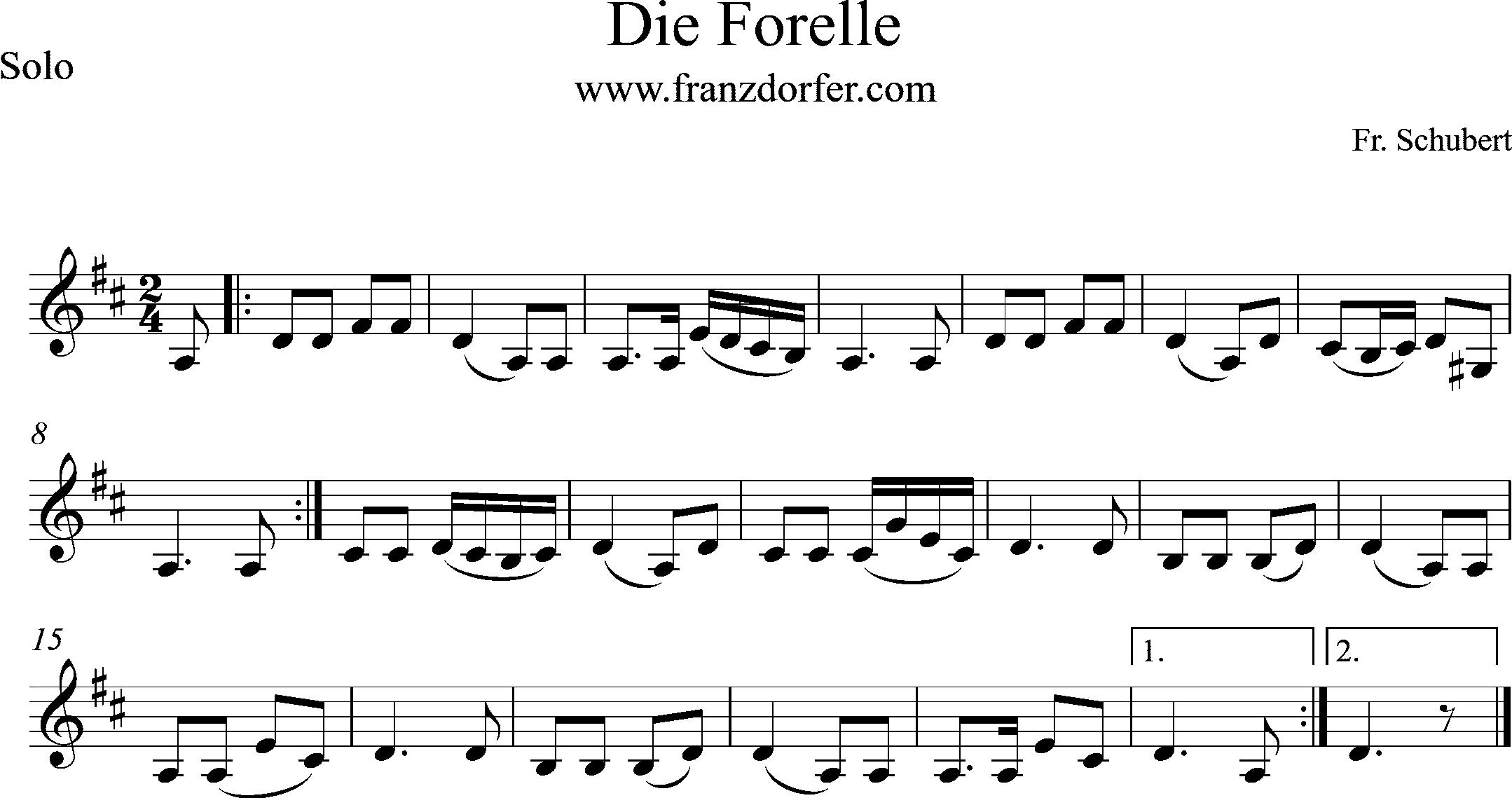 Clarinet. Die Forelle