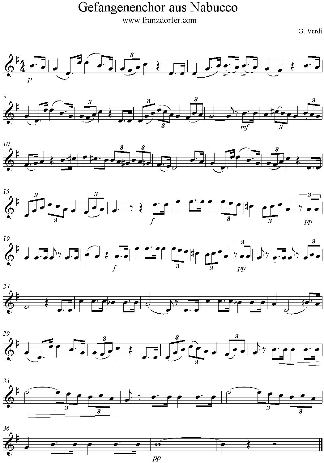 va pensiero-Sheetmusic