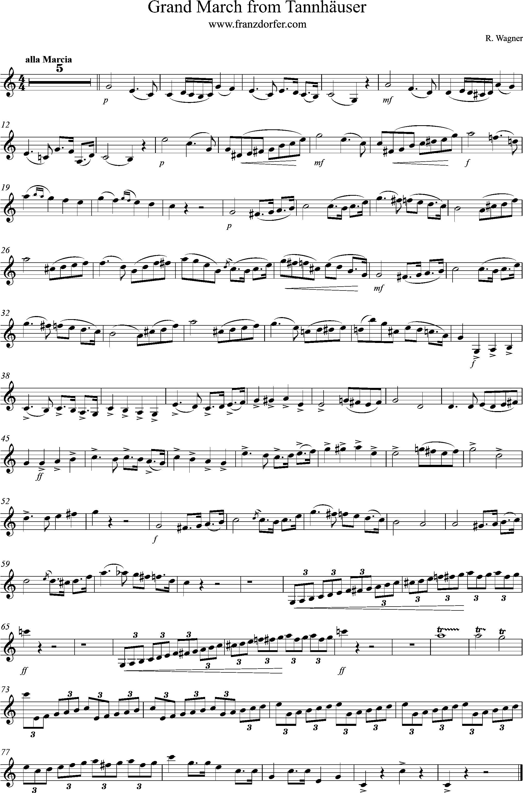 tannhäuser Grand March