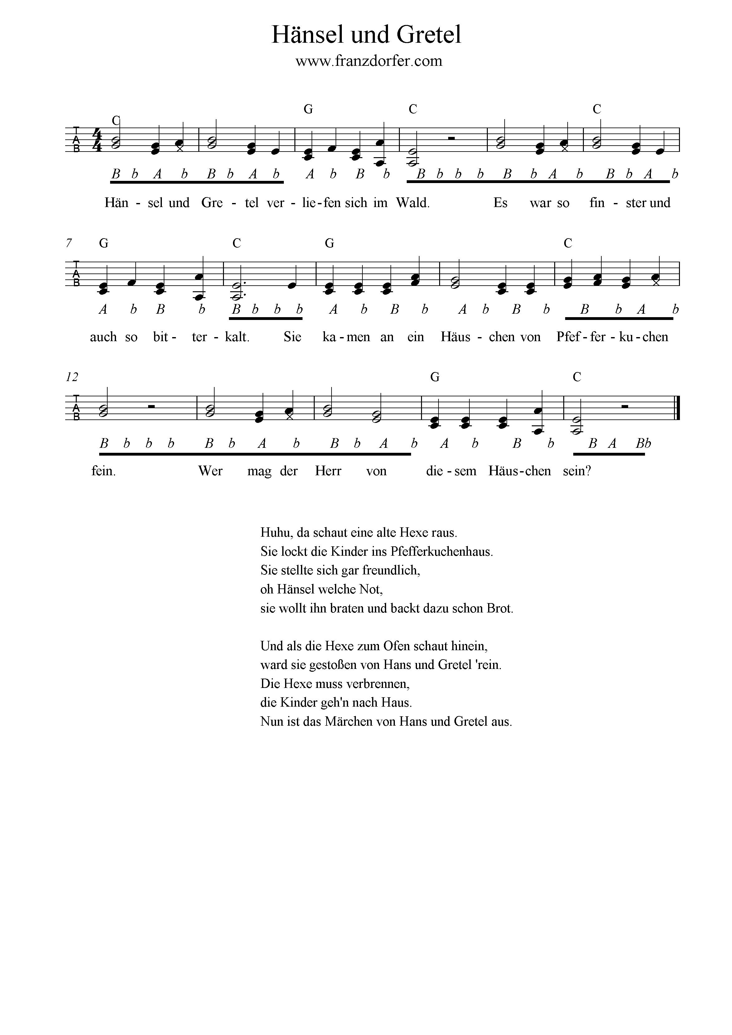 Text Hänsel Und Gretel Lied