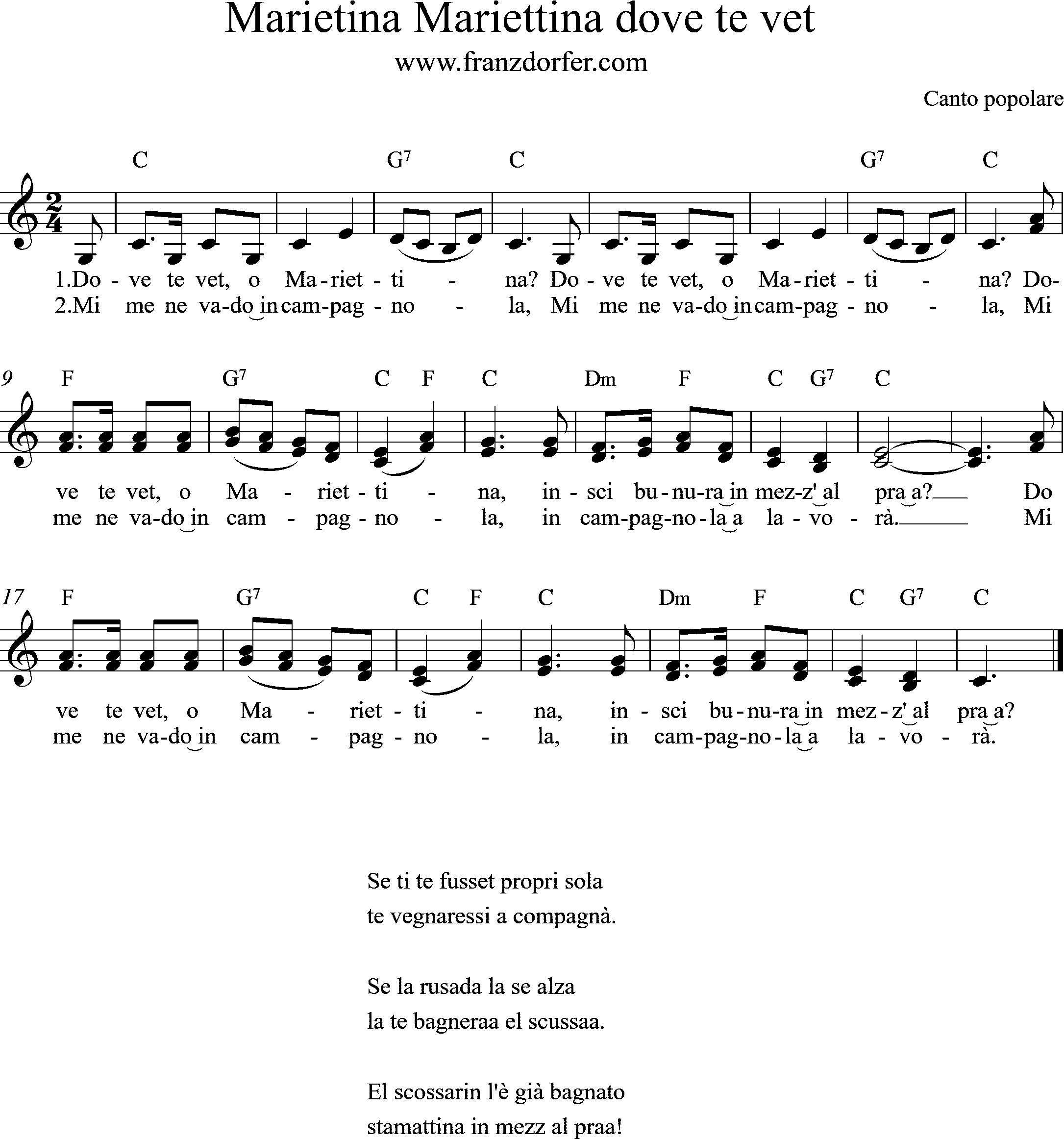 freesheetmusic , C-Major