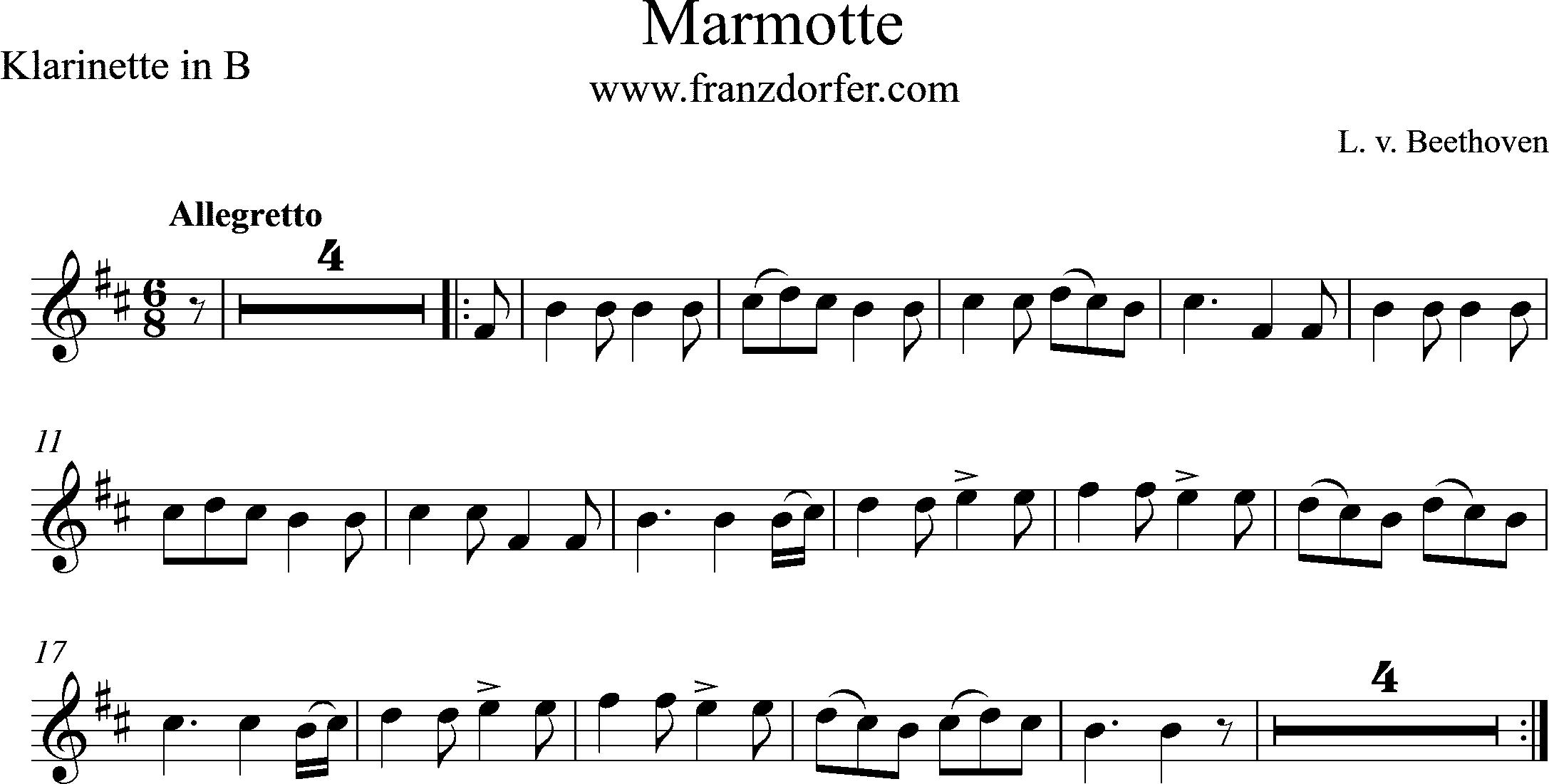Noten, h-moll, Marmorette