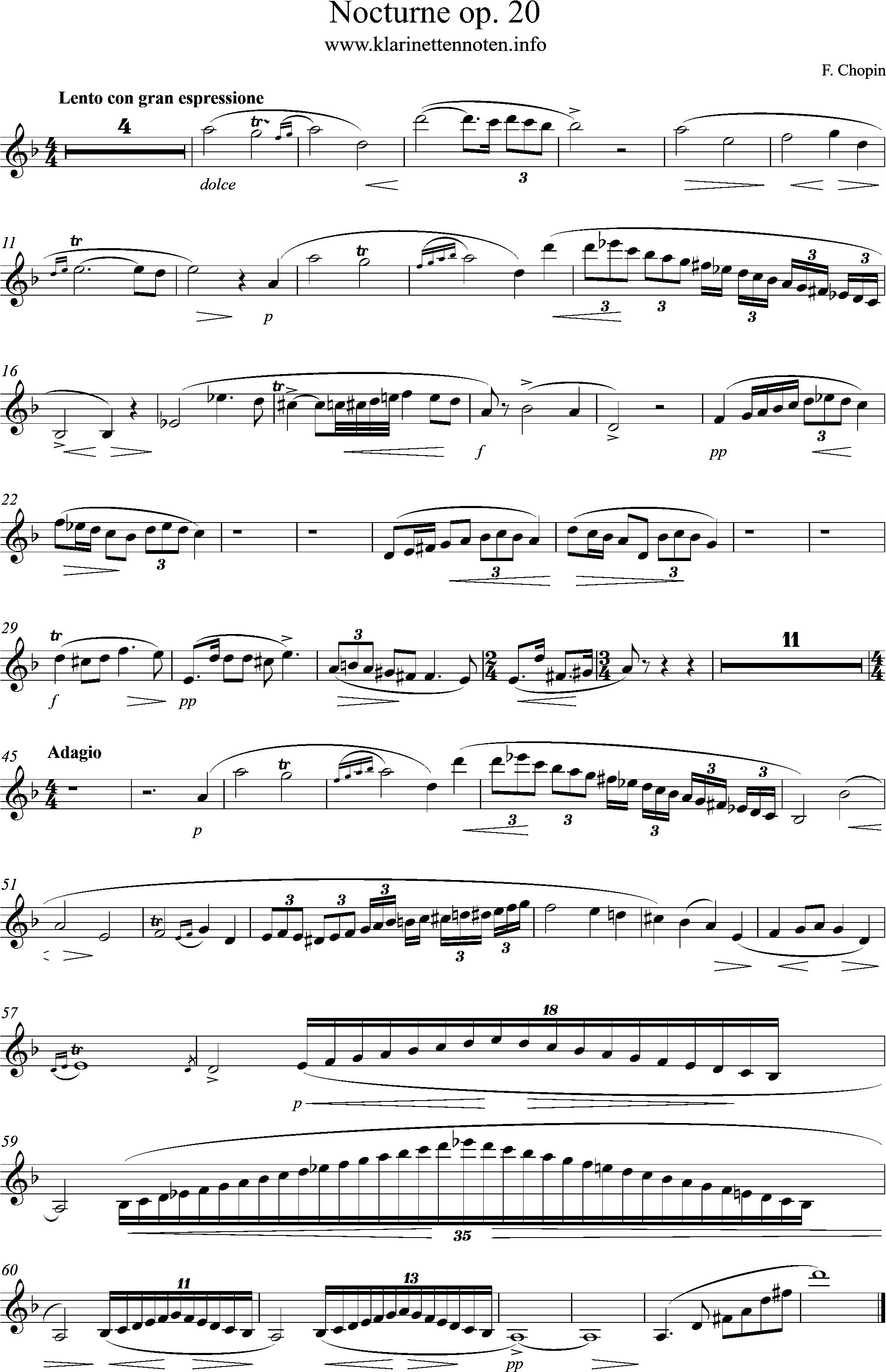 Nocturne - op20 - dm