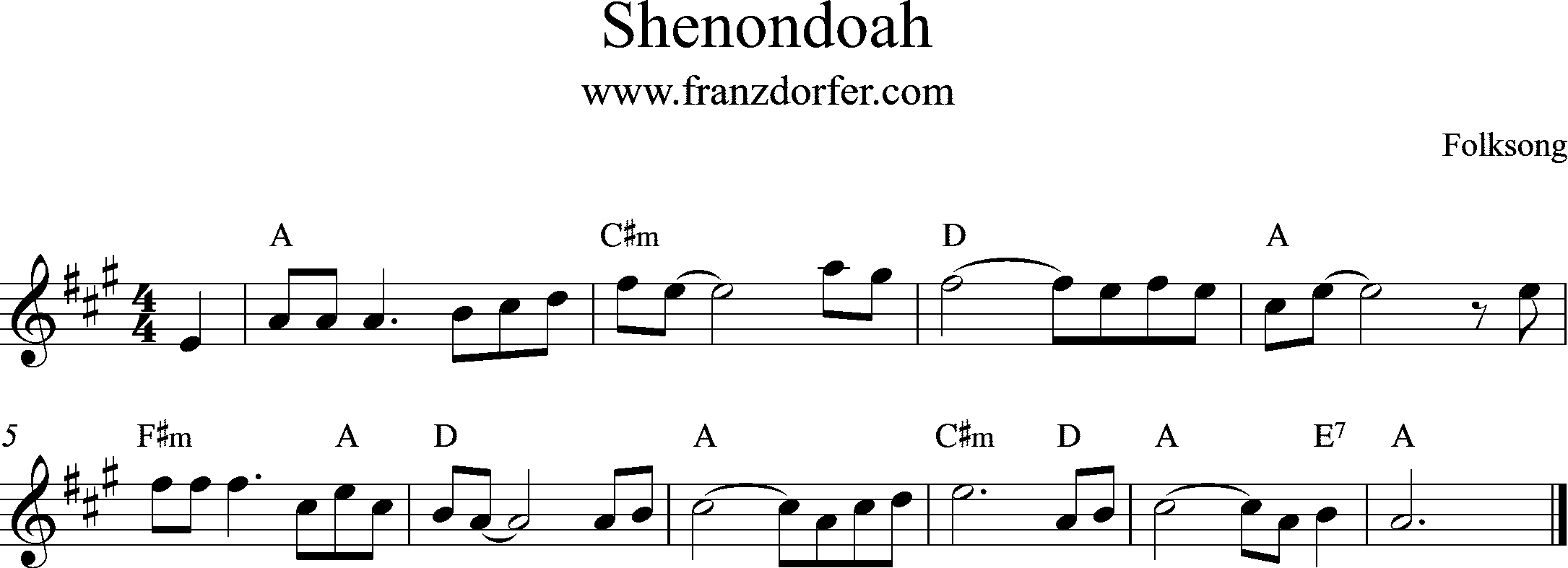 Shenondoah, A-Major