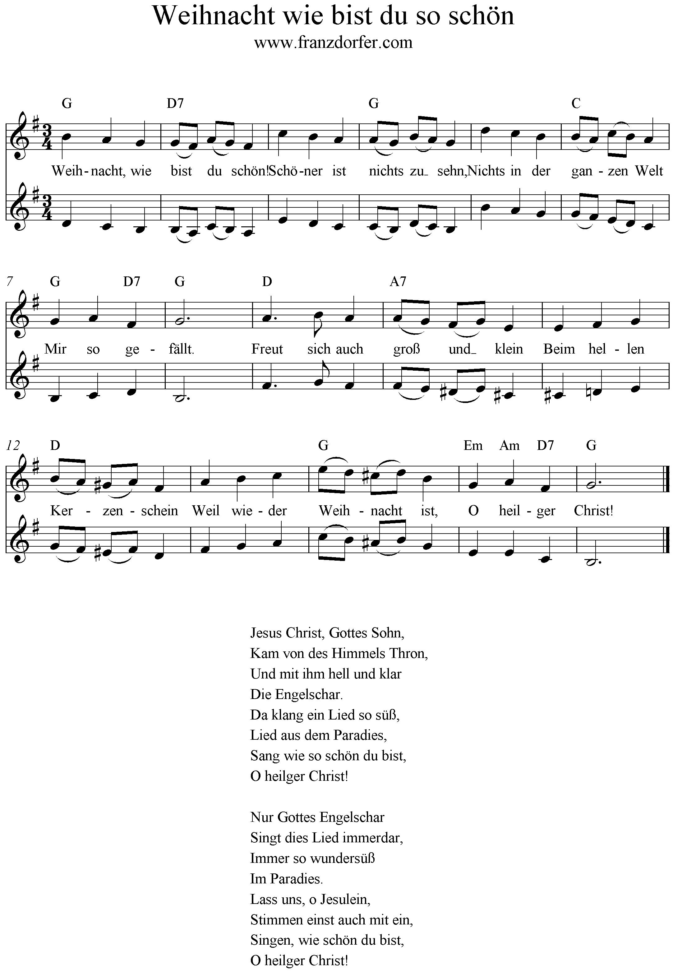 Weihnacht wie bist du schön - Klarinette