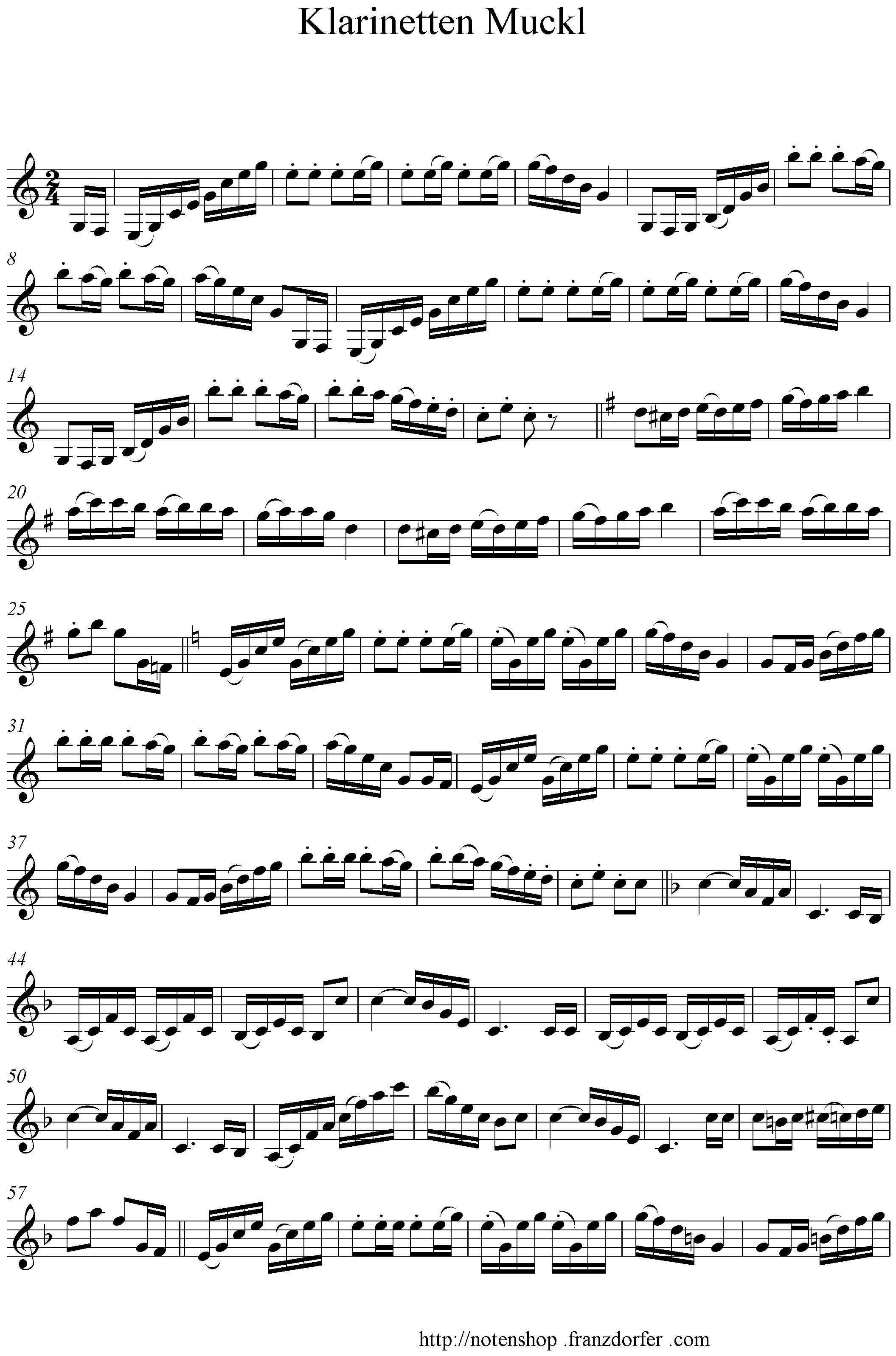 Klarinetten Muckl