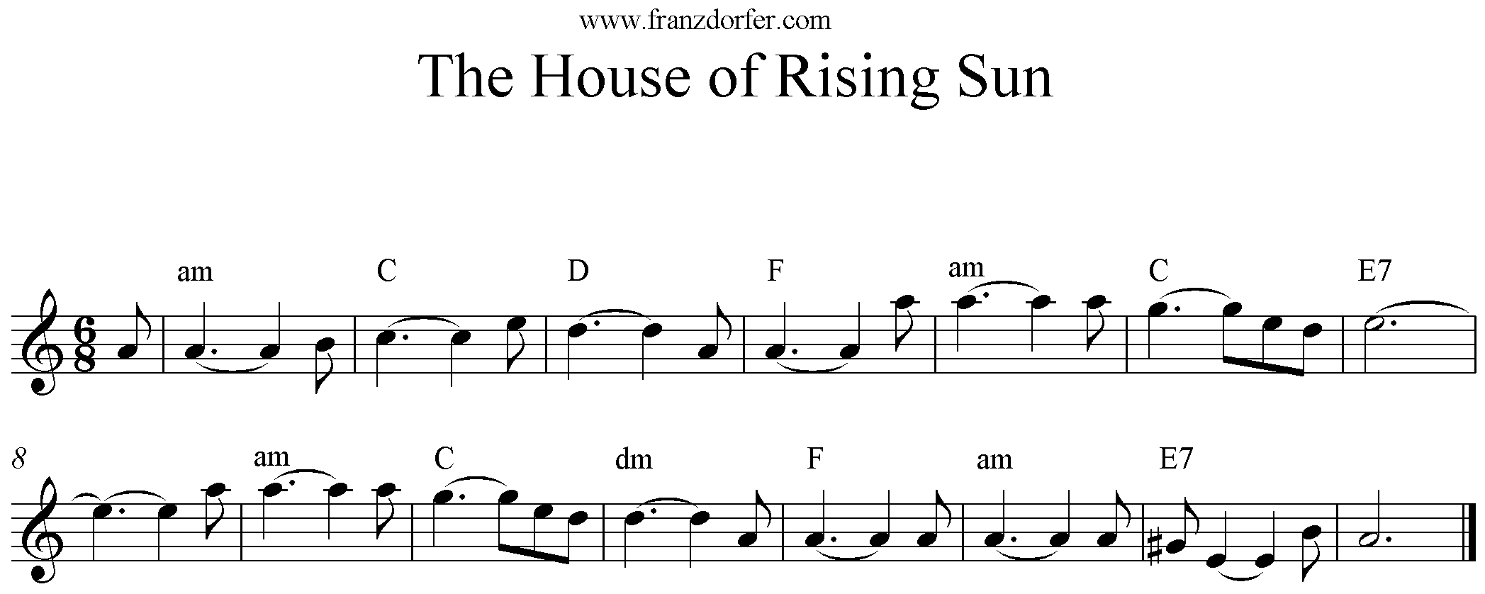 The House Of Rising Sun play Clarinet, Klarinette