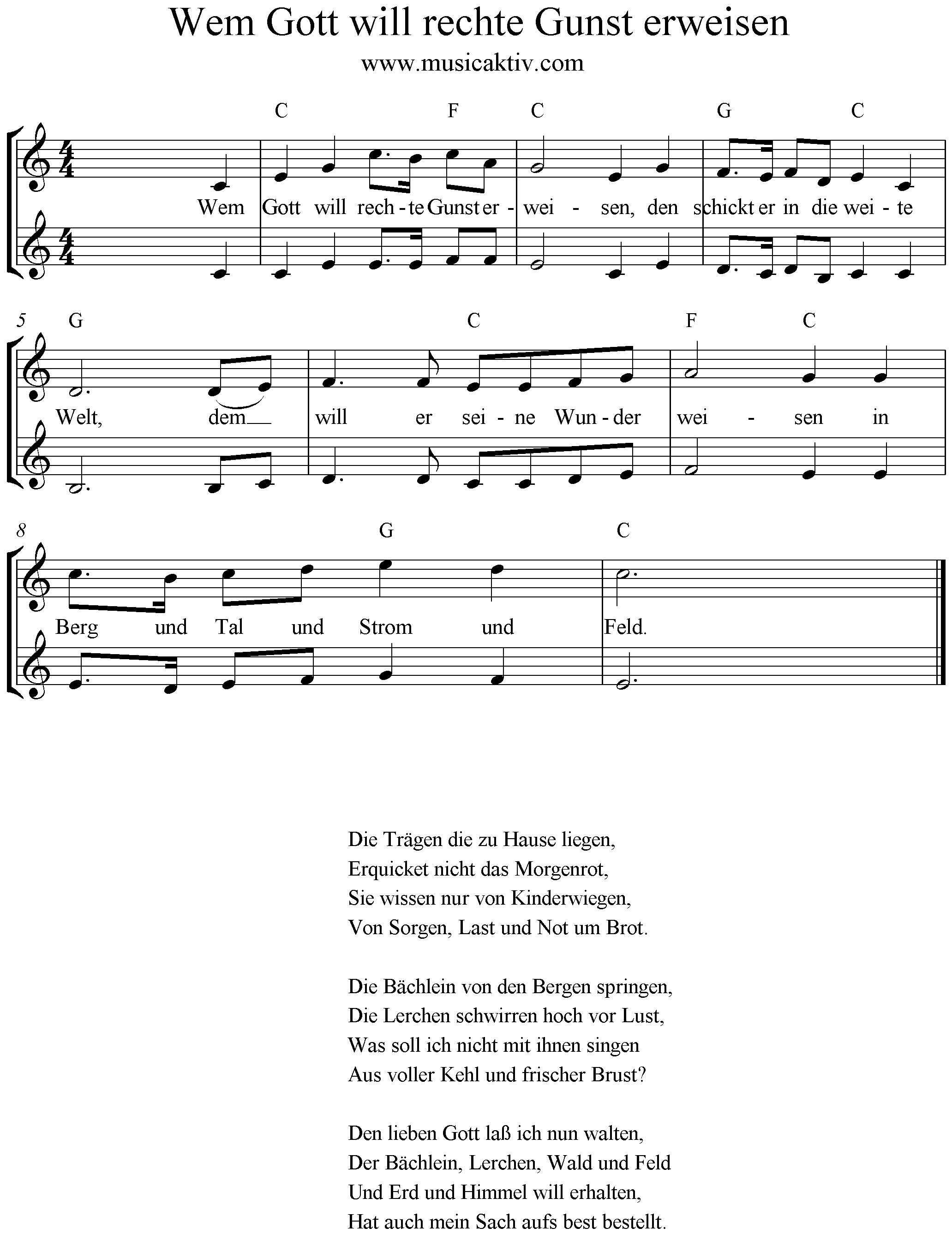hänschen klein liedtext